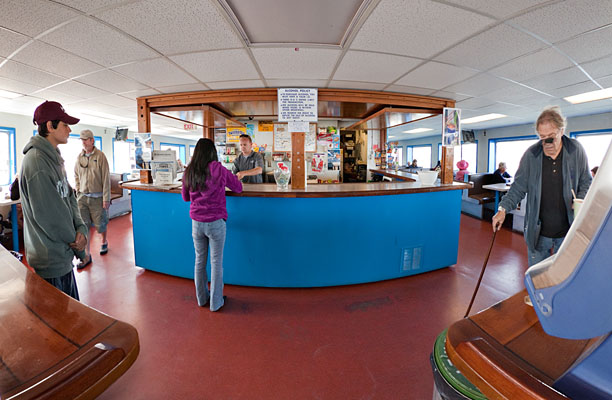 Snack Bar on the 'Block Island'
